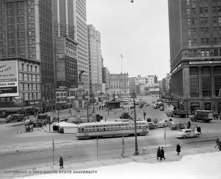 Cadillac Square 1950s Wayne State