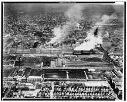 Detroit factories historic photo