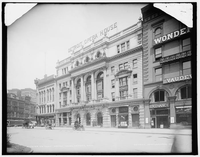 Detroit Opera House Historic Photo