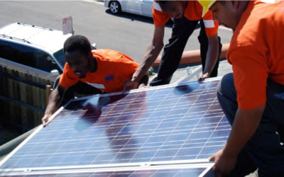 Environmental justice advocates, community organizations, local businesses, and residents, support removing restrictions on rooftop solar